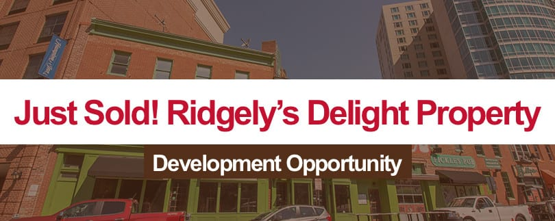 Just Sold:  Ridgely's Delight Development Opportunity