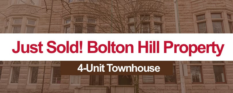 JUST SOLD:  Bolton Hill 4-Unit Townhouse