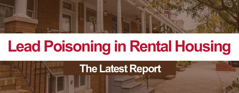 Lead Poisoning in Rental Housing: Summary of the latest report issued by the Maryland Department of the Environment
