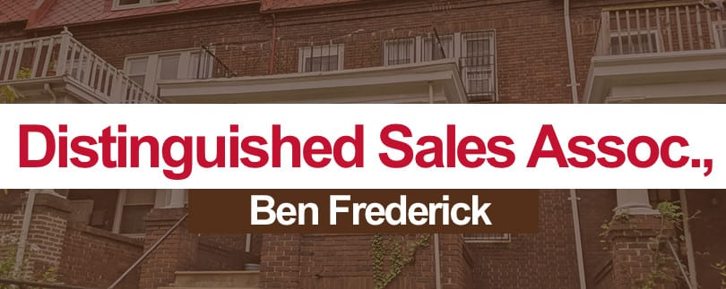 "Ben Frederick nominated for the ""Distinguished Sales Associate Award"" by Greater Baltimore Board of Realtors"