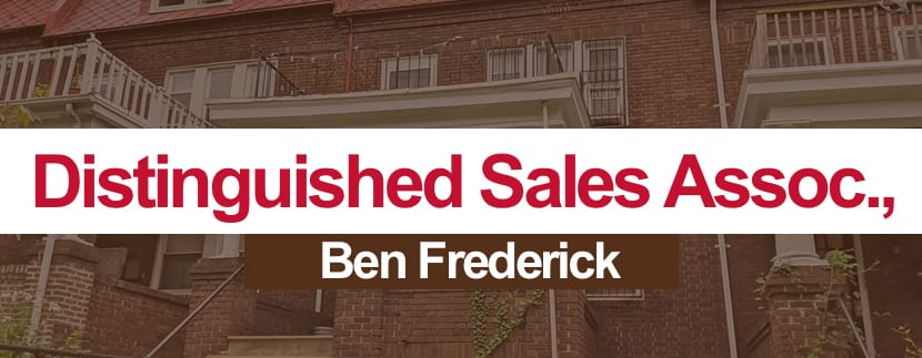"""Ben Frederick nominated for the """"Distinguished Sales Associate Award"""" by Greater Baltimore Board of Realtors"""