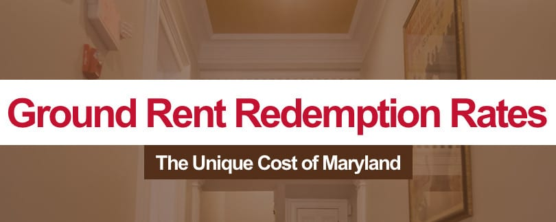 Maryland Ground Rent Redemption Rates