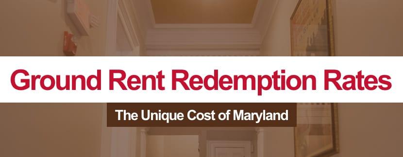 Maryland Ground Rent Redemption Rates