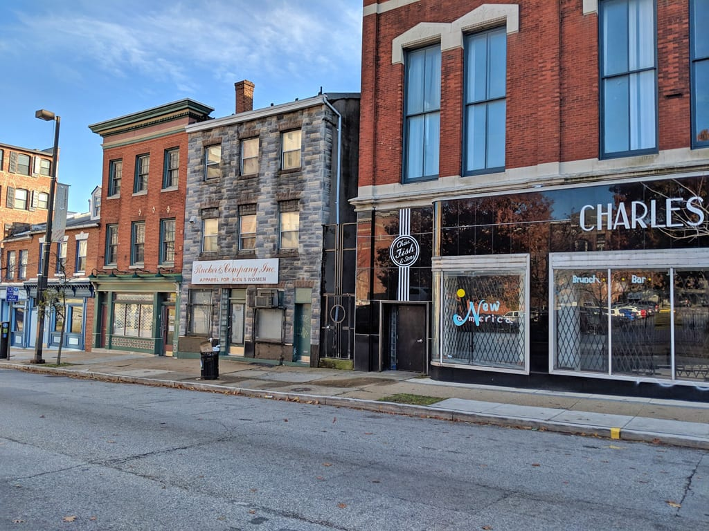 Store Front + Residence In Downtown Baltimore