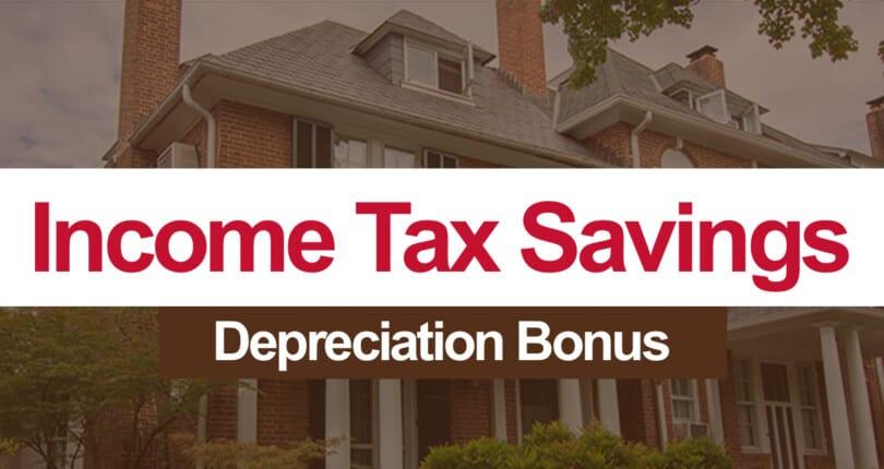 Income Tax Savings: Take Advantage of Bonus Depreciation
