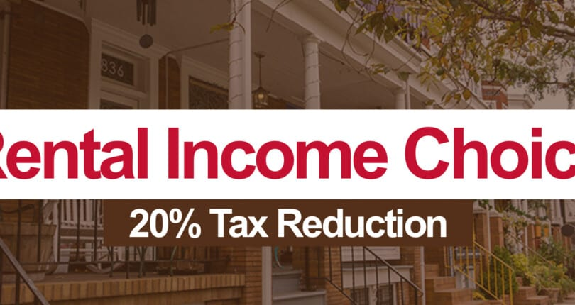 Deduct 20% of your rental income when you file your 2018 income taxes!
