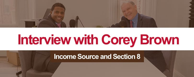 Corey Brown discusses Source of Income and Section 8 Housing Choice Voucher Program in Baltimore City