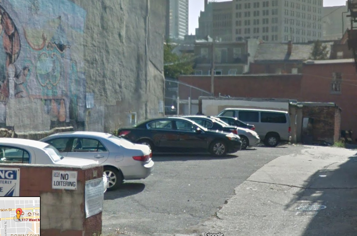 117 W Mulberry St: 12-car parking lot in Downtown Baltimore
