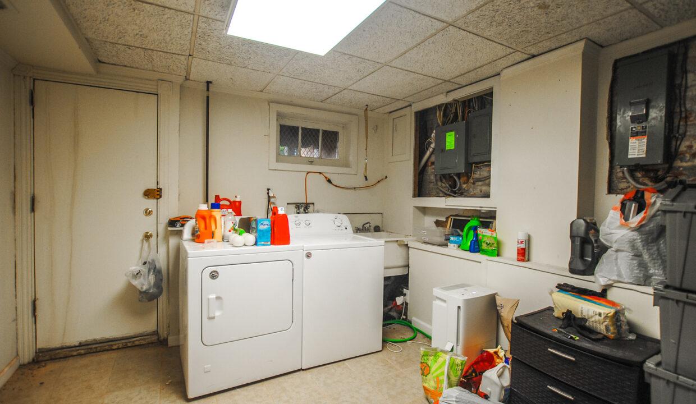 60 basement laundry